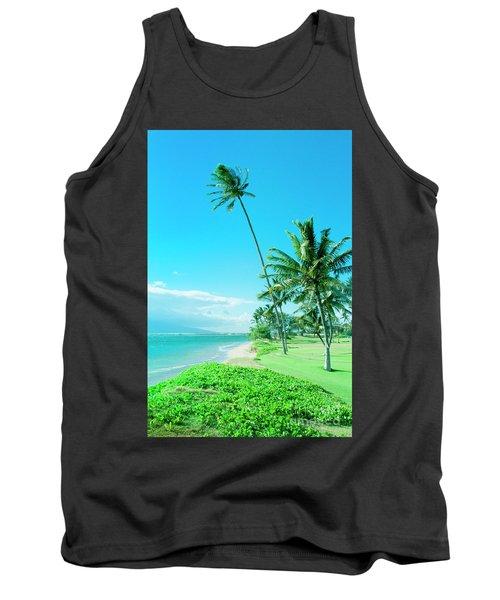 Tank Top featuring the photograph Waipuilani Beach Kihei Maui Hawaii by Sharon Mau
