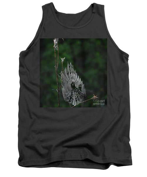 Tank Top featuring the photograph Webs We Weave by Skip Willits