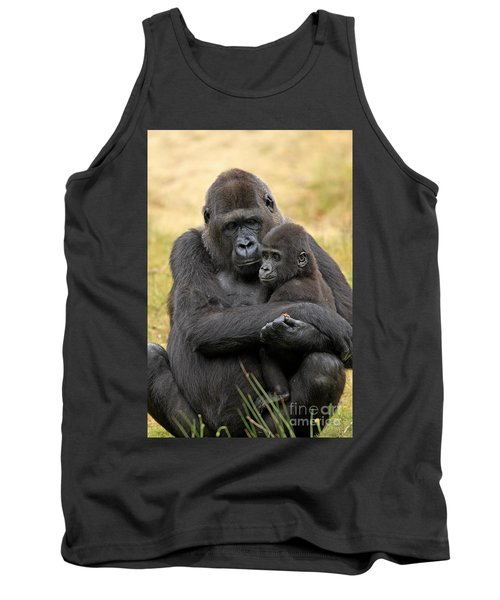 Western Gorilla And Young Tank Top