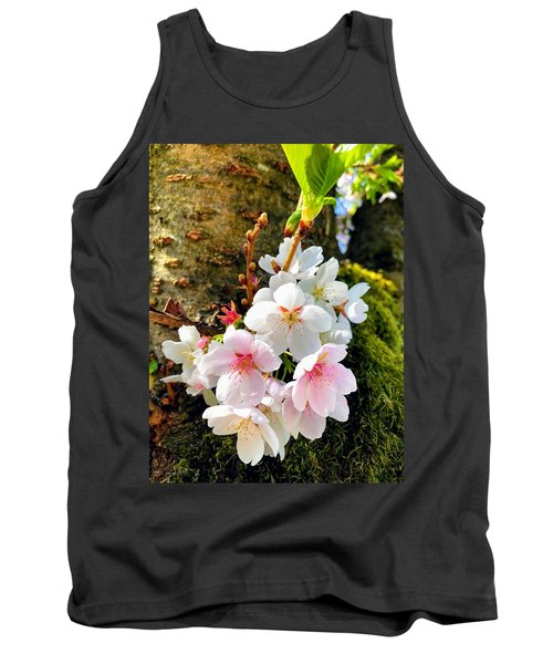 White Apple Blossom In Spring Tank Top