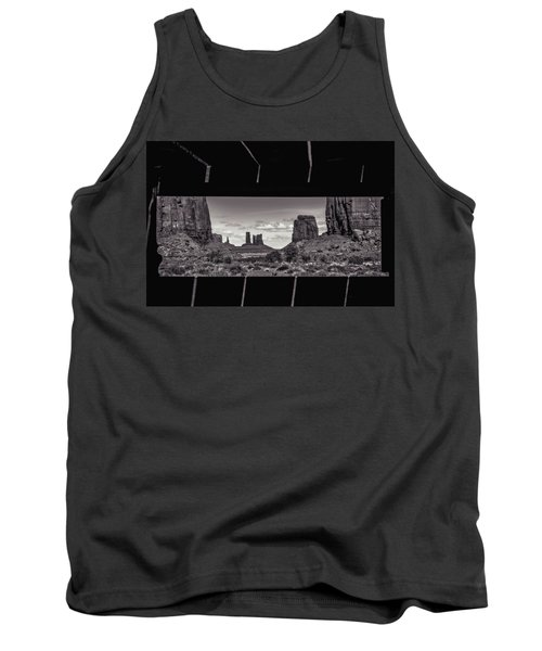 Tank Top featuring the photograph Window Into Monument Valley by Eduard Moldoveanu