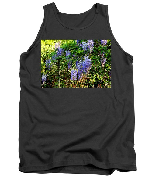 Tank Top featuring the photograph Wisteria by Betty-Anne McDonald