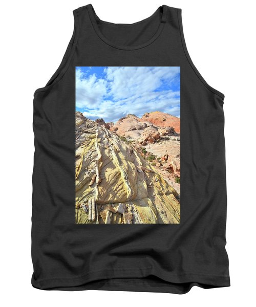 Yellow Brick Road In Valley Of Fire Tank Top by Ray Mathis