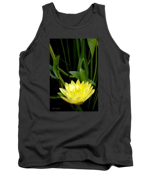 Tank Top featuring the photograph Yellow Lotus by Debra     Vatalaro