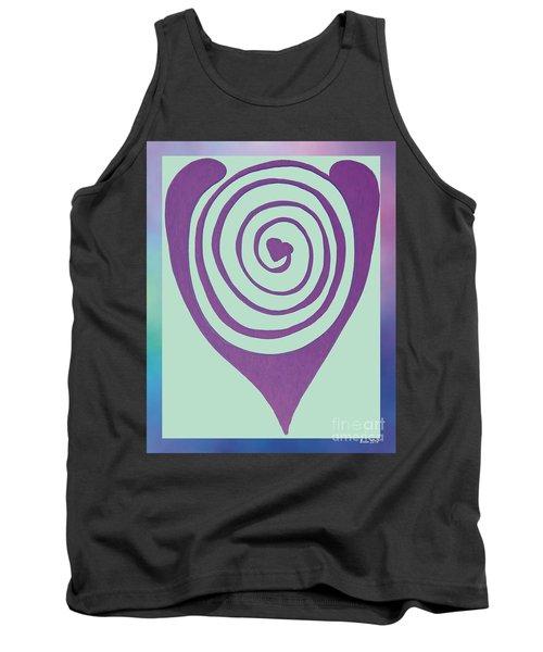 Zen Heart Labyrinth Path Tank Top