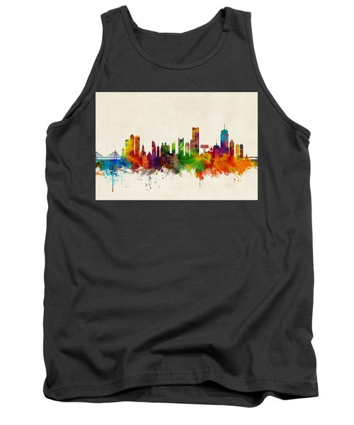 Boston Massachusetts Skyline Tank Top