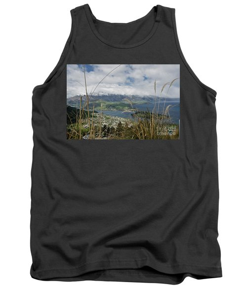 Queenstown New Zealand. Remarkable Ranges And Lake Wakatipu. Tank Top