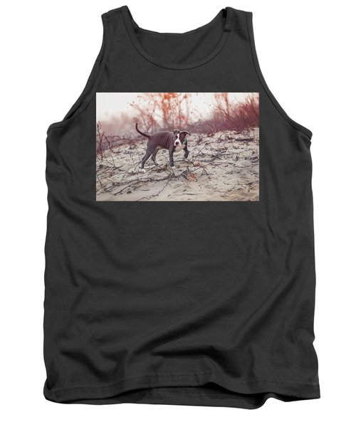 Tank Top featuring the photograph American Pitbull  by Peter Lakomy