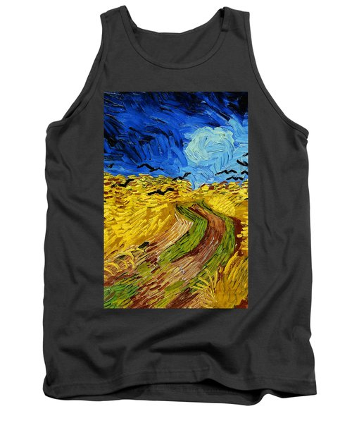 Wheatfield With Crows Tank Top