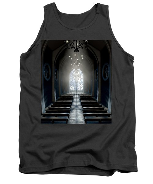 Stained Glass Window Church Tank Top