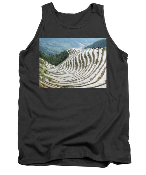 Terrace Fields Scenery In Spring Tank Top