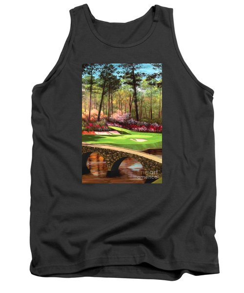 12th Hole At Augusta Ver Tank Top by Tim Gilliland
