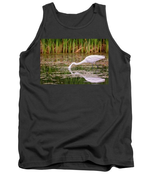 White, Great Egret Tank Top