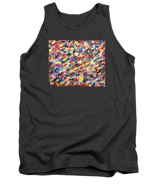14k Gold Abstract Painting 48x60 Print Tank Top