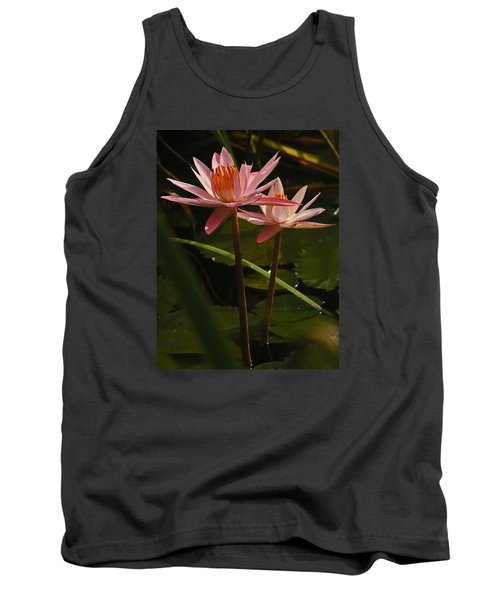 Water Lilly Tank Top by Ronald Olivier
