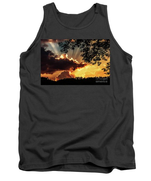 Tank Top featuring the photograph Appalachian Sunset by Thomas R Fletcher