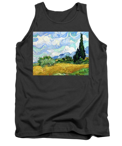 Wheat Field With Cypresses Tank Top