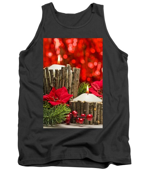 Tank Top featuring the photograph Autumn Candles by Ulrich Schade