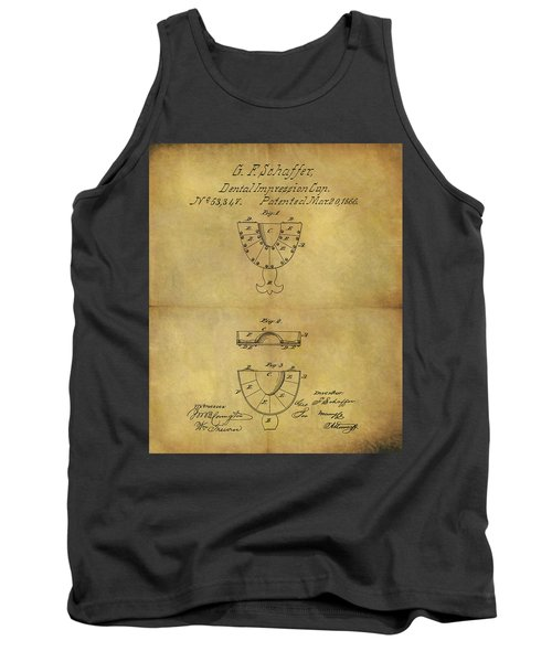 1866 Dental Mold Patent Tank Top by Dan Sproul