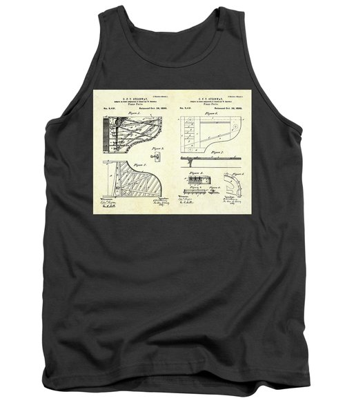 1880 Steinway Piano Forte Patent Art Sheets V2 Tank Top by Gary Bodnar