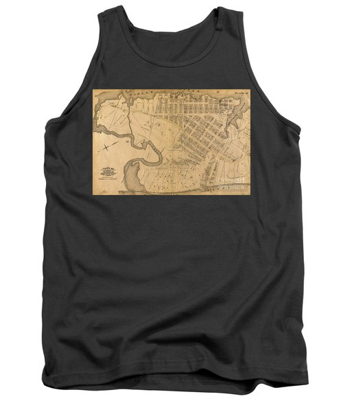 Tank Top featuring the photograph 1885 Inwood Map  by Cole Thompson