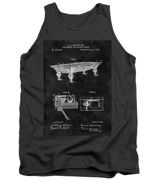 1891 Pool Table Patent Tank Top
