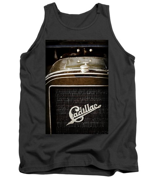 Tank Top featuring the photograph 1907 Cadillac Model M Touring Grille Emblem -1106ac by Jill Reger