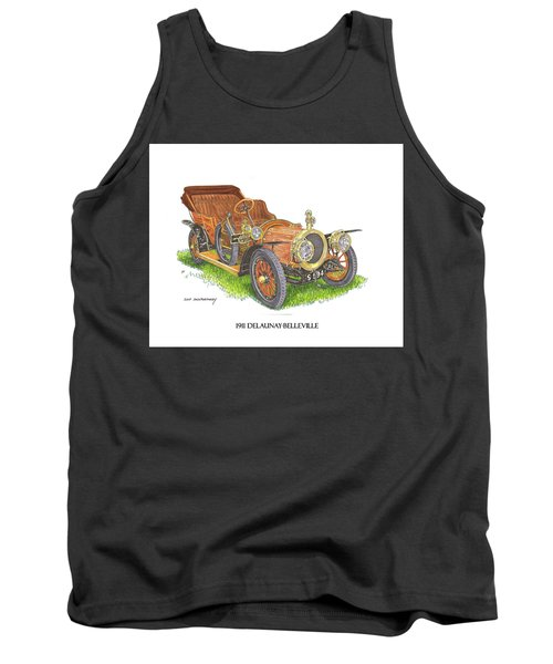 1911 Delaunay Belleville Open Tourer Tank Top by Jack Pumphrey