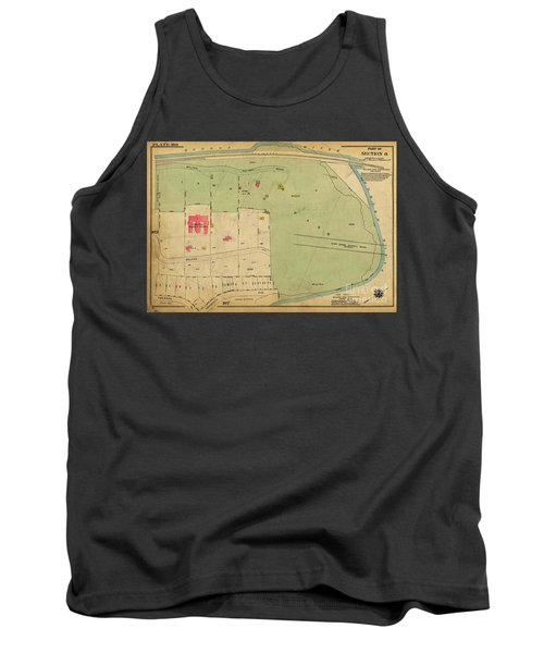Tank Top featuring the photograph 1923 Inwood Hill Map  by Cole Thompson
