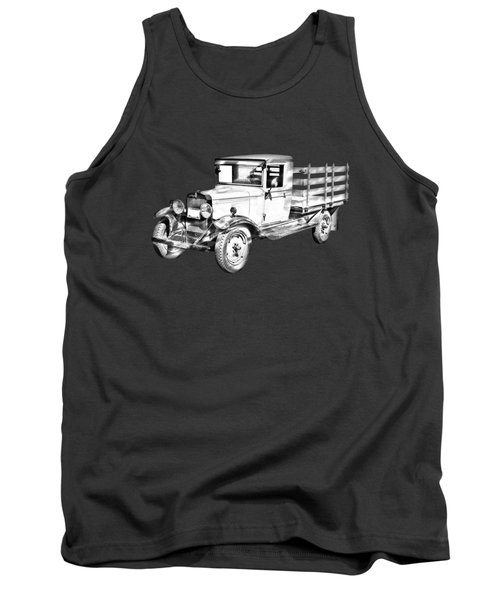 1929 Chevy Truck 1 Ton Stake Body Drawing Tank Top