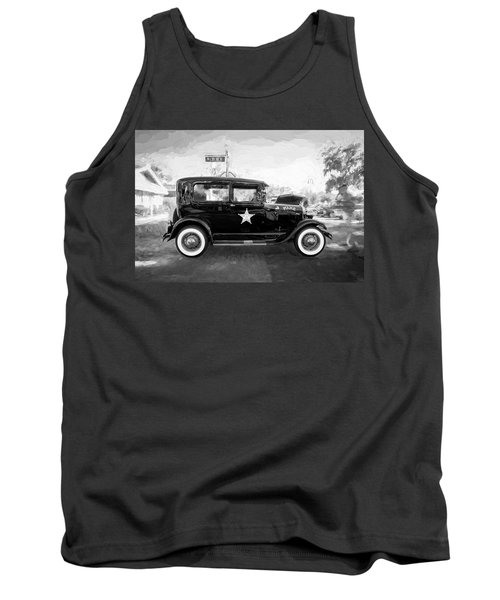 1929 Ford Model A Tudor Police Sedan Bw Tank Top