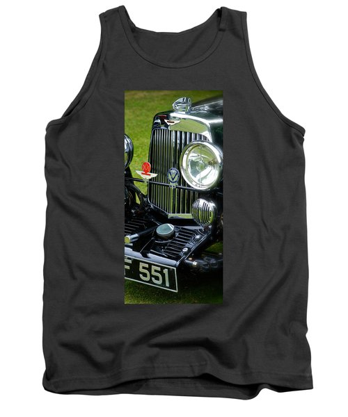 1930s Aston Martin Front Grille Detail Tank Top by John Colley