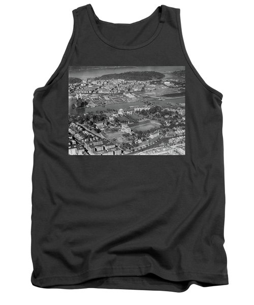 Tank Top featuring the photograph 1930's Northern Manhattan Aerial  by Cole Thompson