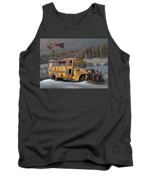 Tank Top featuring the digital art 1931 Ford School Bus by Stuart Swartz