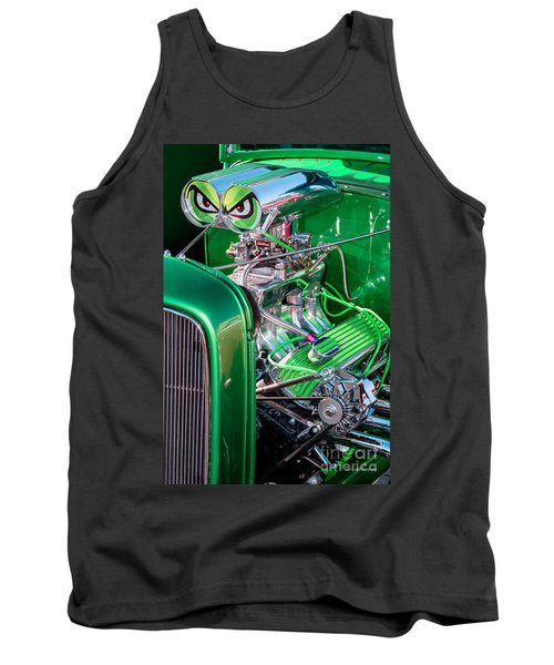 Tank Top featuring the photograph 1932 Green Ford Hot Rod Engine by Aloha Art