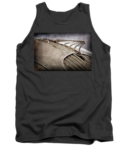 Tank Top featuring the photograph 1934 Desoto Airflow Coupe Hood Ornament -2404ac by Jill Reger