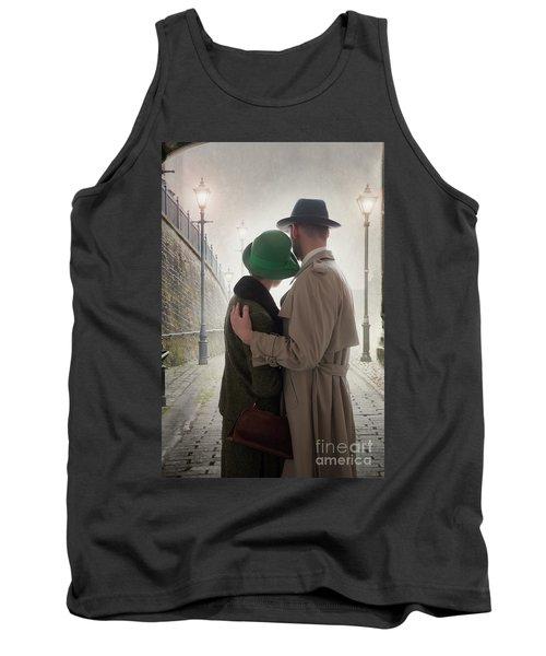 1940s Couple At Dusk  Tank Top by Lee Avison