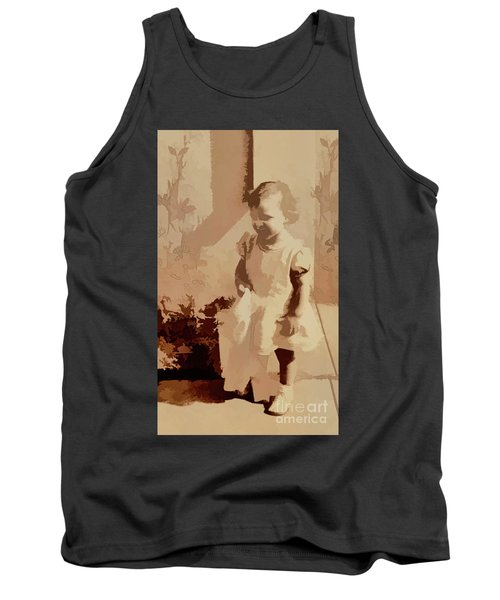 Tank Top featuring the photograph 1940s Little Girl by Linda Phelps