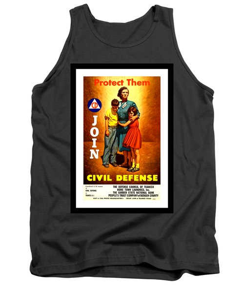 1942 Civil Defense Poster By Charles Coiner Tank Top