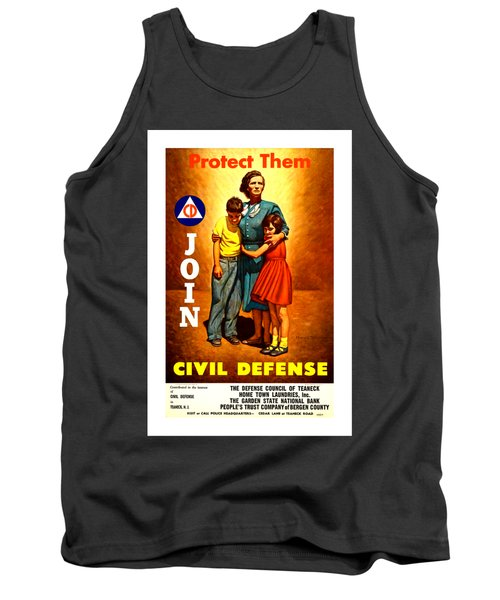 1942 Civil Defense Poster II By Charles Coiner Tank Top