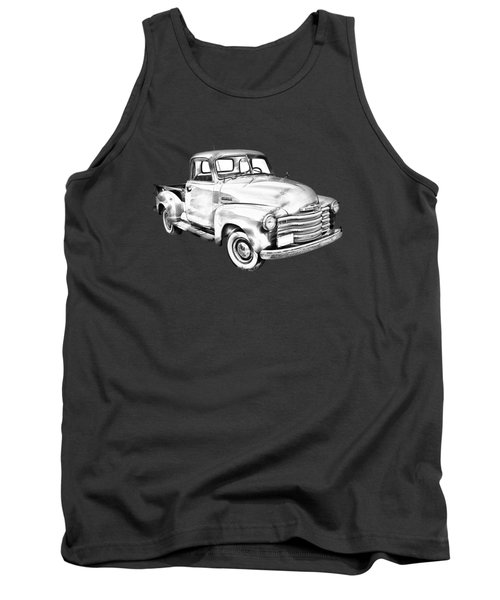 1947 Chevrolet Thriftmaster Pickup Illustration Tank Top