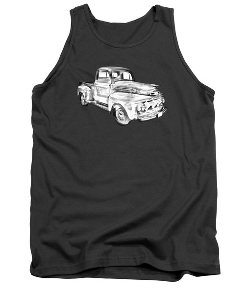 1951 Ford F-1 Pickup Truck Illustration  Tank Top by Keith Webber Jr
