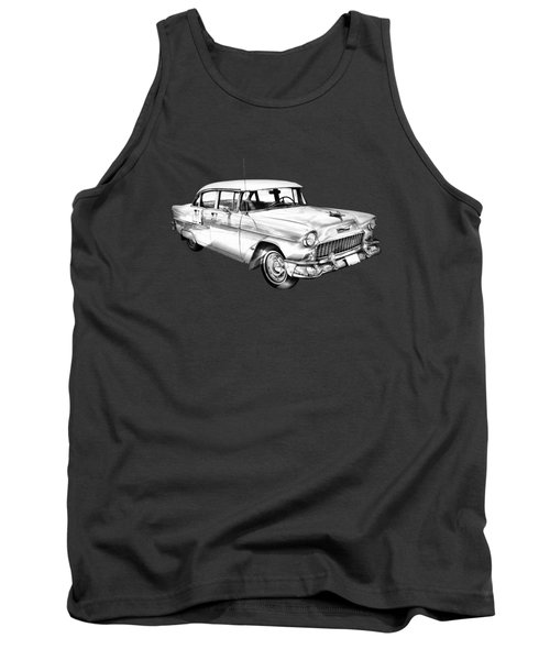 1955 Chevrolet Bel Air Illustration Tank Top