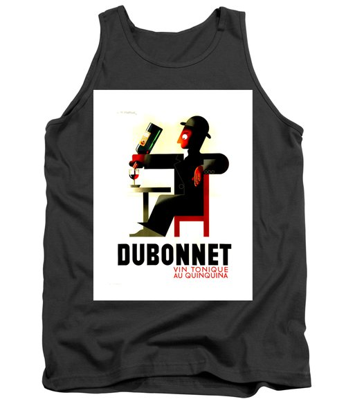 1956 Dubonnet Poster II By Adolphe Mouron Cassandre Tank Top by Peter Gumaer Ogden Collection