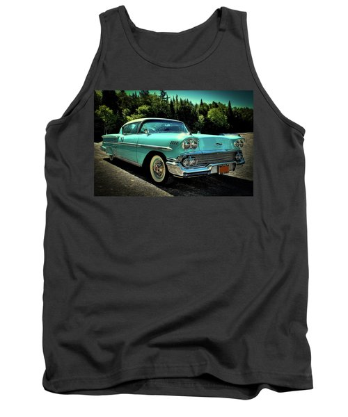 1958 Chevrolet Impala Tank Top by David Patterson