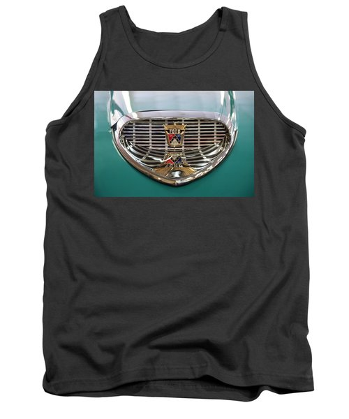 Tank Top featuring the digital art 1958 Ford Fairlane Sunliner Intake by Chris Flees
