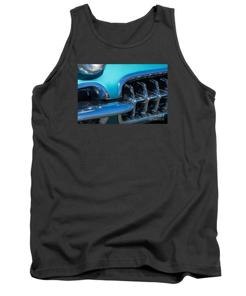 1960 Chevy Corvette Headlight And Grill Abstract Tank Top