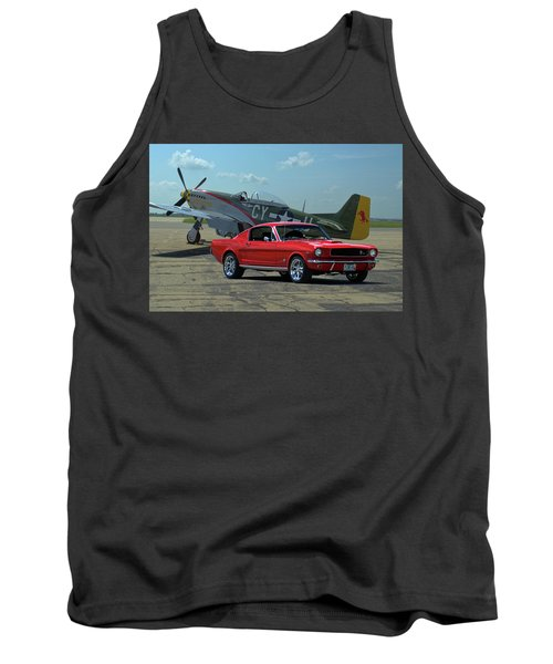 1965 Mustang Fastback And P51 Mustang Tank Top