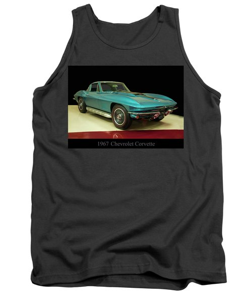 Tank Top featuring the digital art 1967 Chevrolet Corvette 2 by Chris Flees