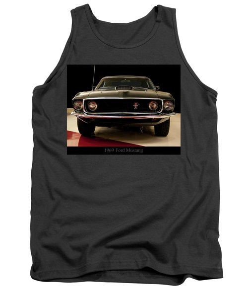Tank Top featuring the digital art 1969 Ford Mustang by Chris Flees